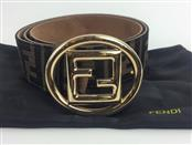 FENDI CANVAS MONOGRAM BELT SZ 34